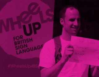 British Deaf Association Launches #WheelsUp4BSL Campaign - image 1