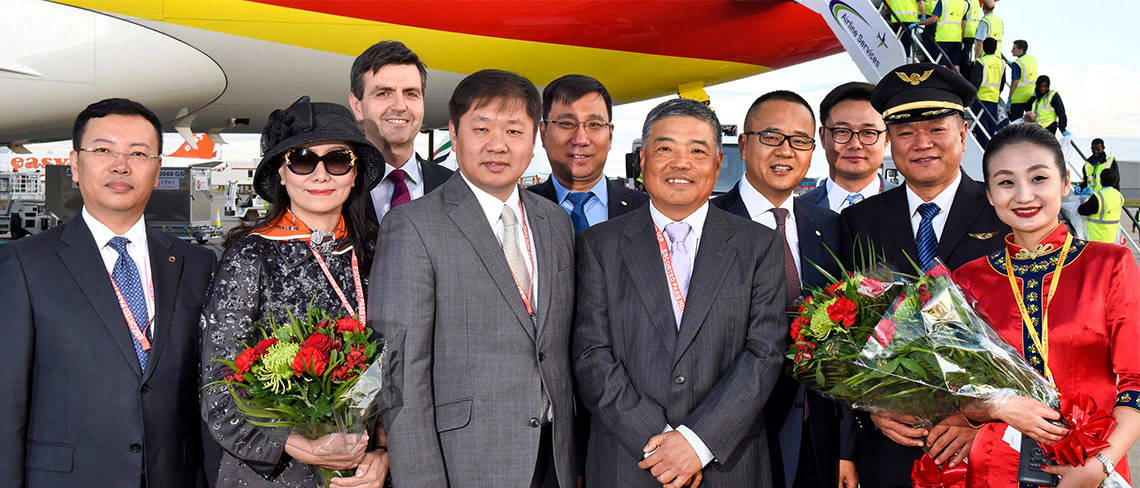 Tianjin Airlines first UK to China flight by RoosterPR - image 3