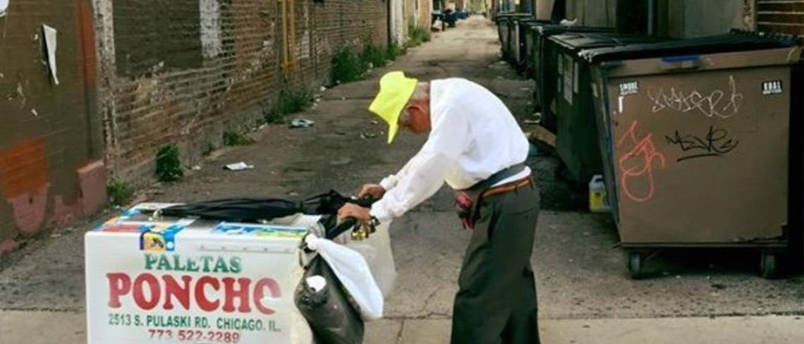 Elderly man pushing ice lolly cart GoFundMe by RoosterPR - image 3