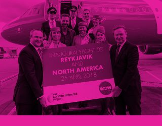 WOW air Takes Off From London Stansted Across the Atlantic by RoosterPR - img 1