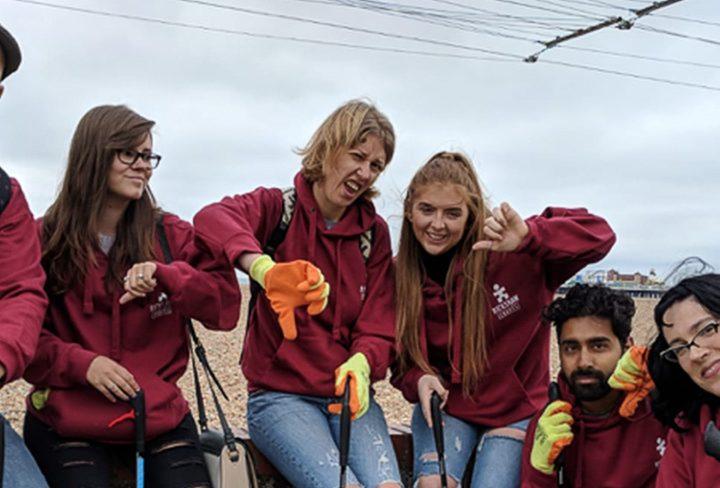 Rickshaw Travel Clean Up Brighton Beach Ahead of World Oceans Day