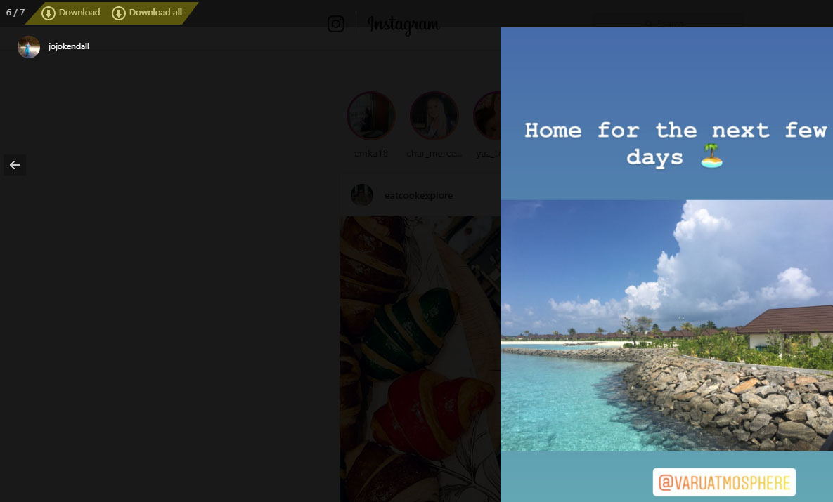 Download Instagram Stories as UGC with the IG Stories extension and the download button on the top left