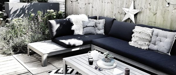 A high contrast outdoor space inspired by Scandiavian lifestyle tips.