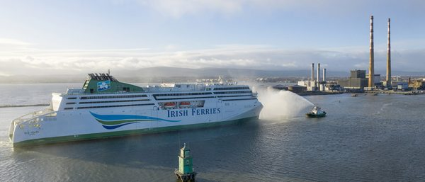 Irish Ferries' WB Yeats vessel pulls into port