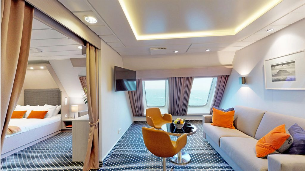 Private cabins on board Irish Ferries' WB Yeats
