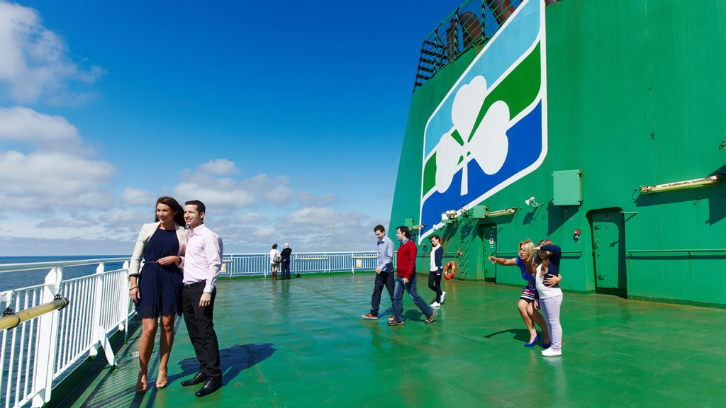 Wide open space on board Irish Ferries' Ulysses