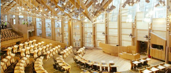 The Chamber of the Scottish Parliament livestreamed by Groovy Gecko