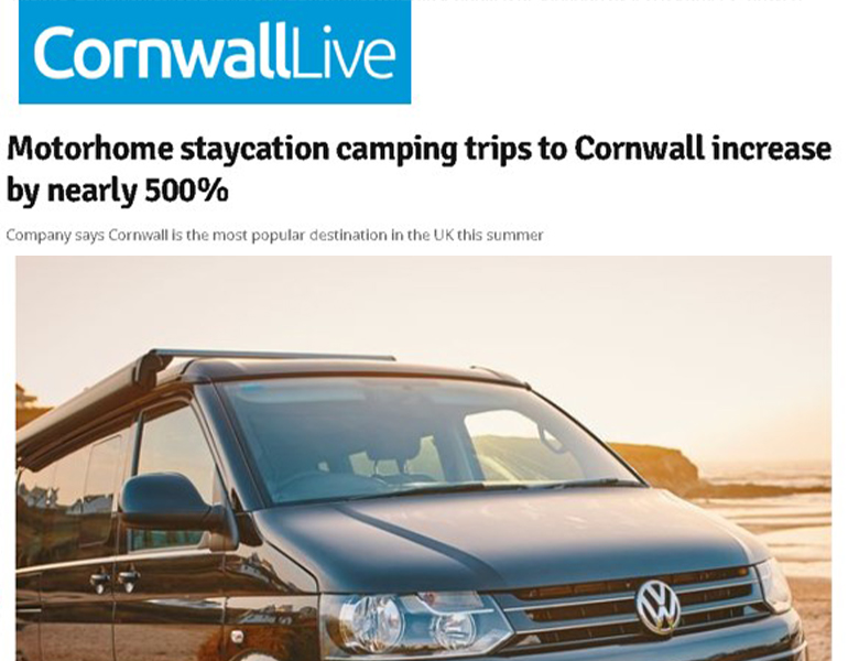 Coverage in Cornwall Live for Camptoo