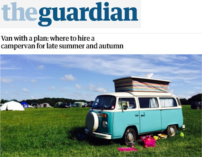 Coverage for Camptoo in The Guardian