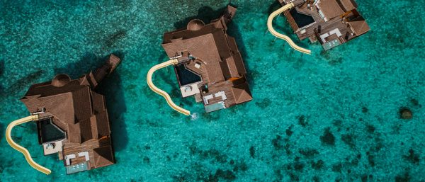 An overhead view of new Maldives resort, OZEN Bolifushi