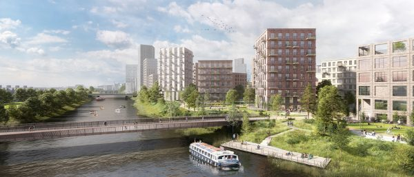 A render of the future Cardiff development